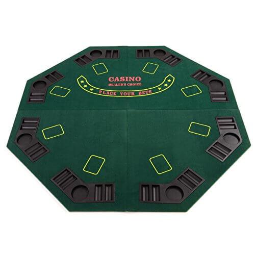 Faltbare Pokertischauflage – Casino Texas Hold'em