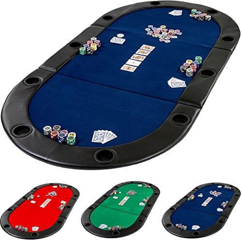 Faltbare Pokerauflage Deluxe mit Tasche
